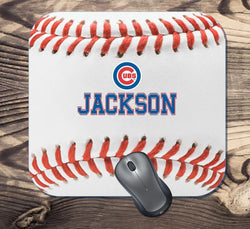 Personalized Chicago Cubs Baseball Mouse Pad