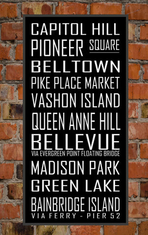Seattle Subway Sign Print - Available in Multiple Sizes