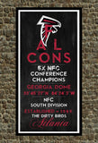 Atlanta Falcons - Eye Chart chalkboard print - sports, football, gift for fathers day, subway sign - Eyechart wall art