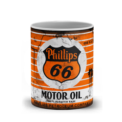 Phillips 66 Motor Oil Vintage Distressed Retro Cool Mug