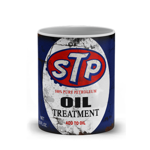 STP Oil Treatment Vintage Distressed Retro Cool Mug