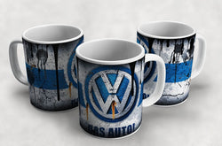 VW Volkswagen Vintage Distressed Retro Cool Mug