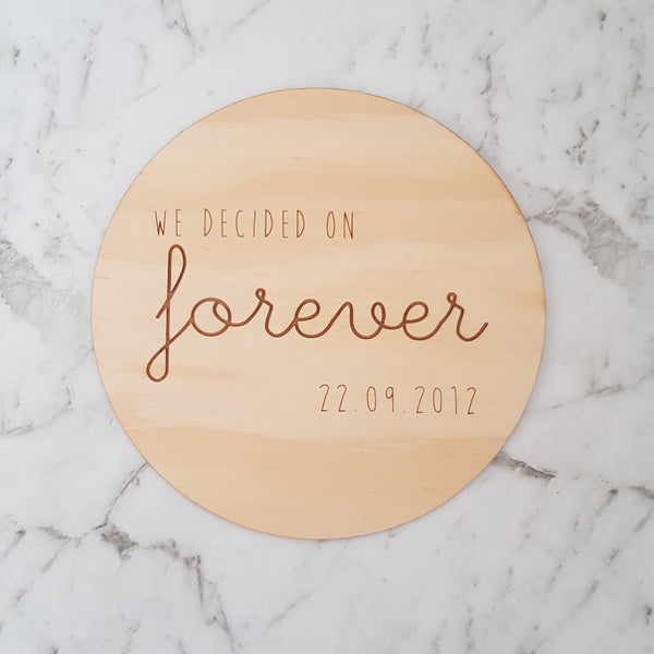 Wooden Timber Wedding Anniversary Plaque