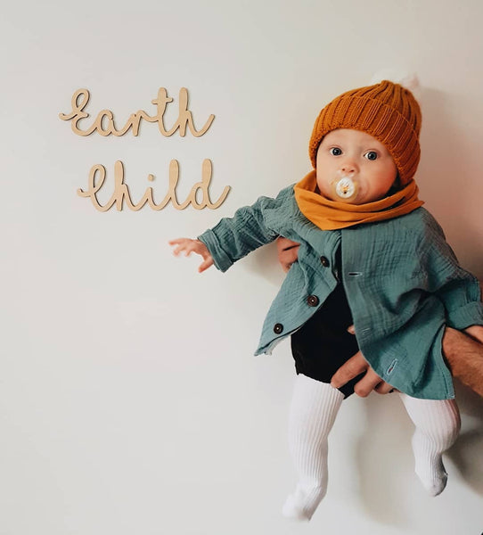 Timber Wooden Earth Child Plaque
