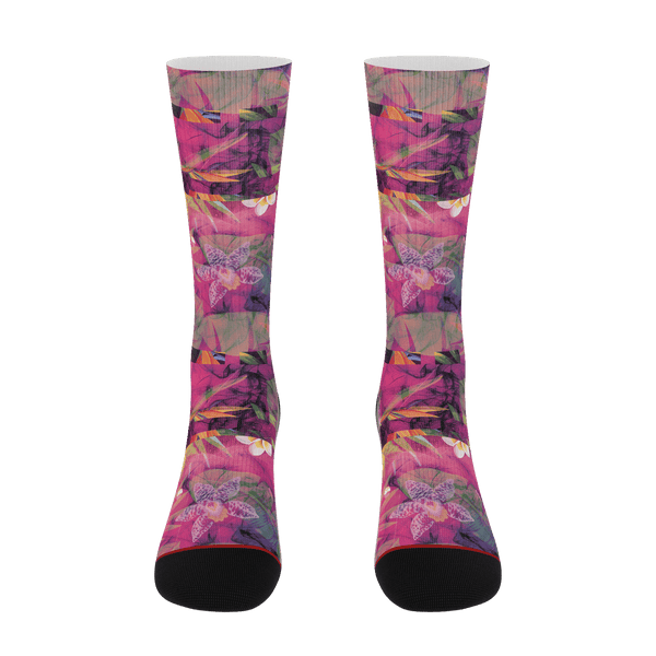 Lifted Galaxy Tropics Socks