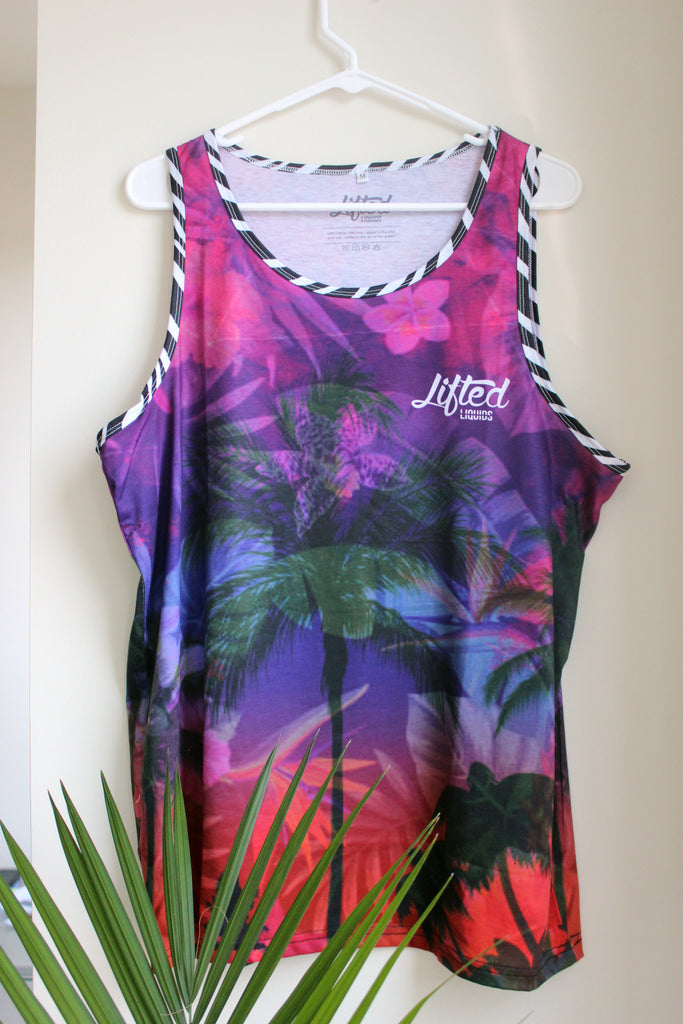 Men's Tropical Galaxy Tank Top