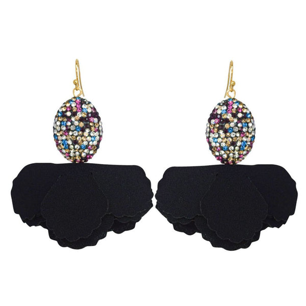 Rainbow Egg Pave Black