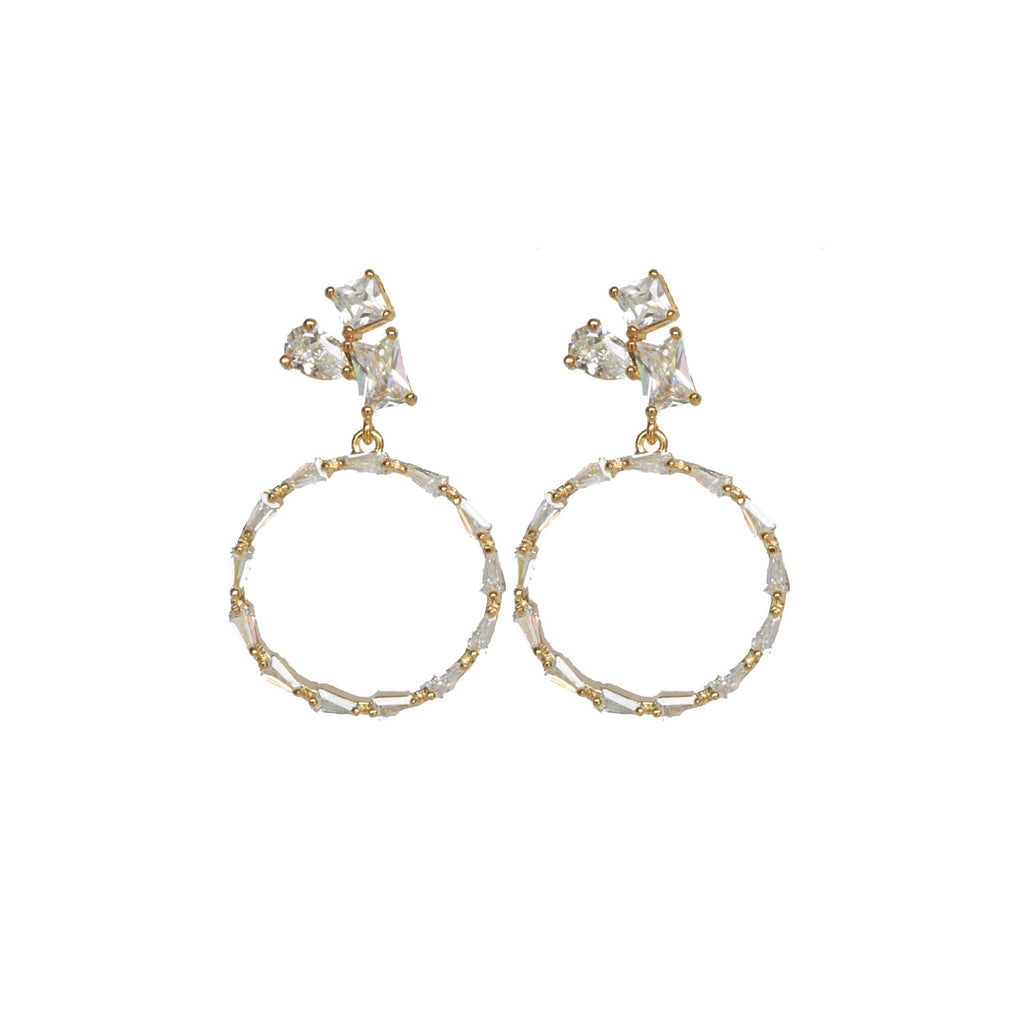 Diamond Cluster Hoop