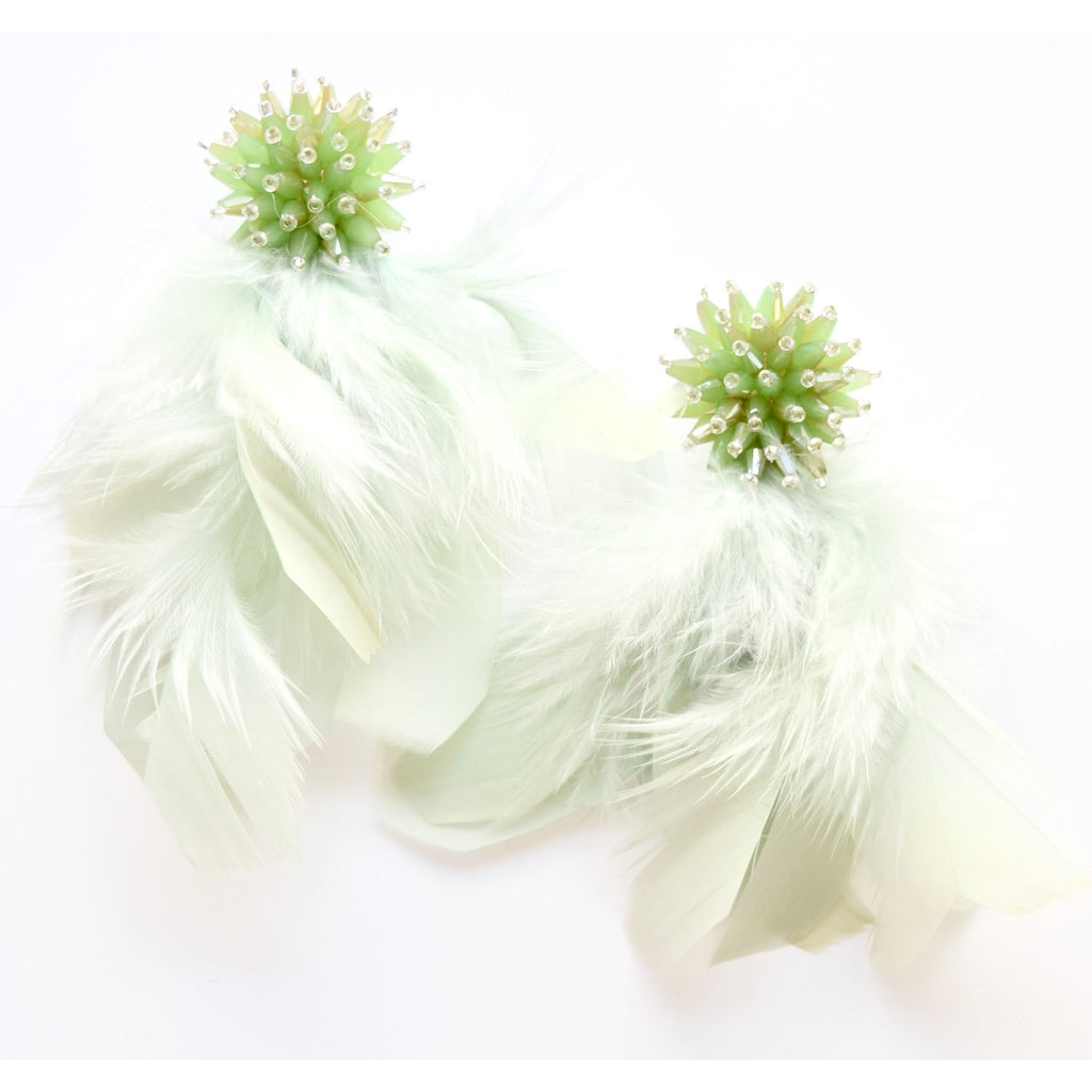 Mint Feather Tassel
