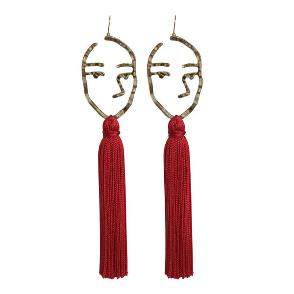 abstract face tassel