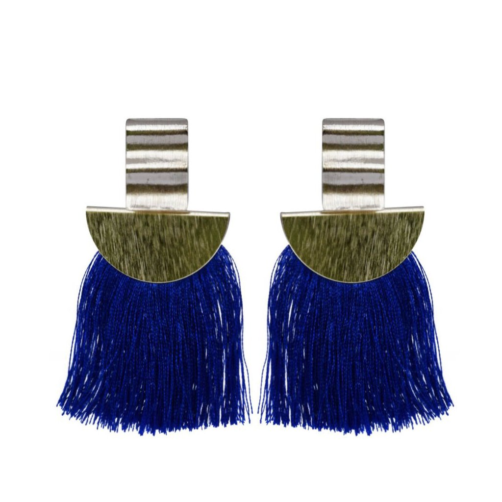 blue wave fan tassel
