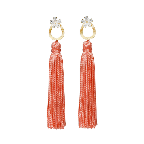 coral fancy tassel