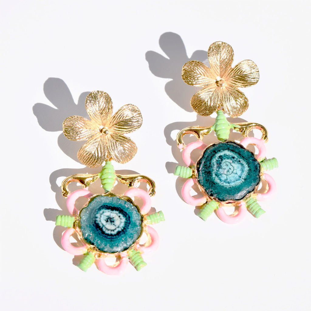 Flower Art Deco Earring
