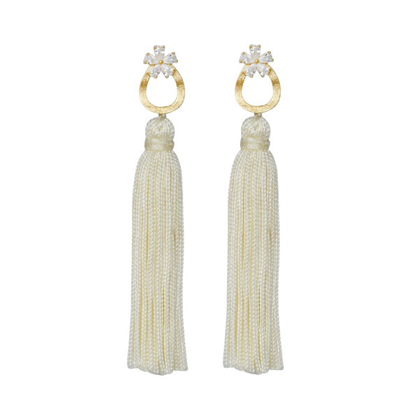 ivory fancy tassel