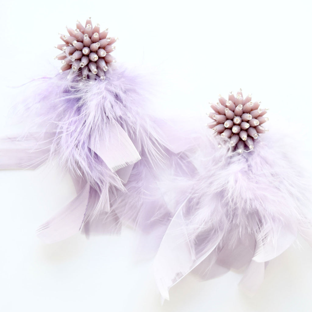 Lavender Feather Tassel