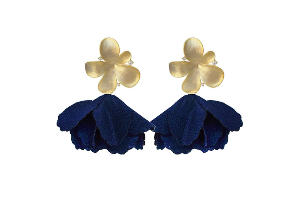 Navy Flower Flutter