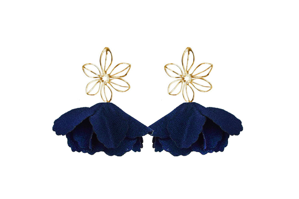 navy wire flower flutter