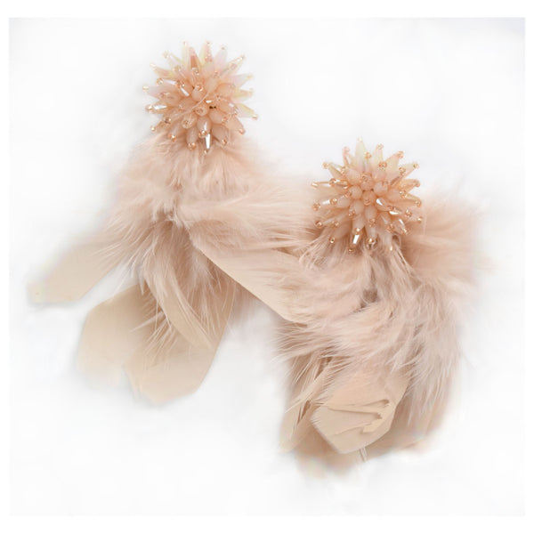 Nude Feather Tassel