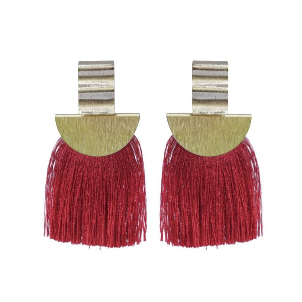 Red Wave Fan Tassel