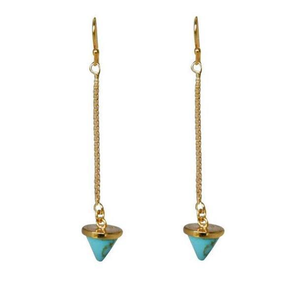 dainty turquoise triangle