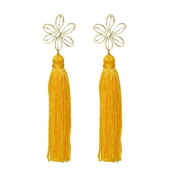 yellow wire flower tassel