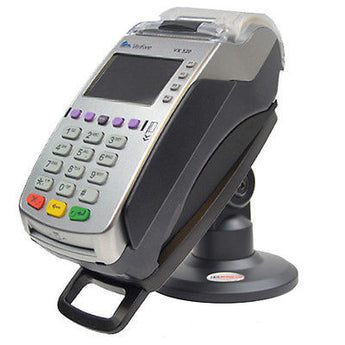 "Compact Stand for Verifone VX520 49mm - Compact 3"" Stand With Lock and KEY - Complete Kit"