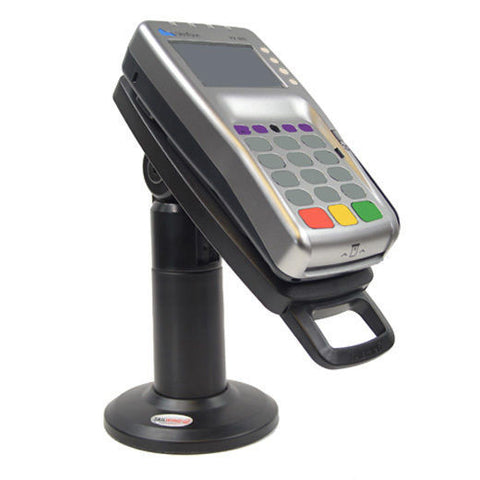"Swivel Stand for Verifone VX 805/820 - Tall 7"" Stand With Latch and Lock (No Key) - Complete Kit"