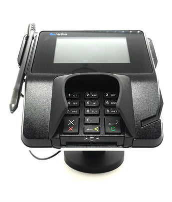 "Metal Swivel Stand for Verifone MX915 - Sturdy Metal - 4.7"" Tall - Swivel and Tilts - Complete Kit - HILIPRO.COM"