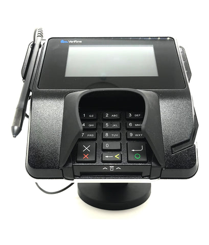 "Metal Swivel Stand for Verifone MX915 - Sturdy Metal - 4.7"" Tall - Swivel and Tilts - Complete Kit"