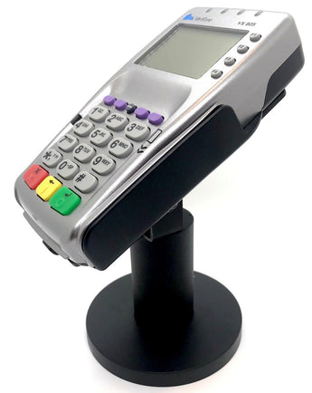 "Sturdy Metal Swivel Stand for Verifone VX805 - Sturdy Metal - 4.7"" Tall - Swivel and Tilts - Complete Kit"