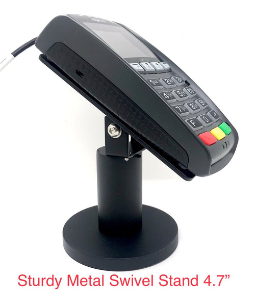 "Sturdy Metal Swivel Stand for Ingenico iPP320/350 - Sturdy Metal - 4.7"" Tall - Swivel and Tilts - Complete Kit"