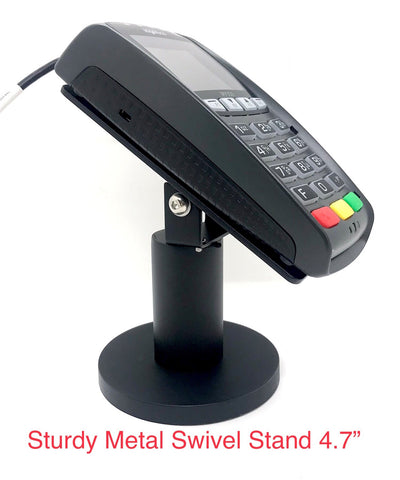 "Sturdy Metal Swivel Stand for Ingenico iPP320/350 - Sturdy Metal - 4.7"" Tall - Swivel and Tilts - Complete Kit - HILIPRO.COM"