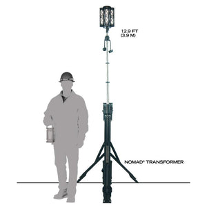 FoxFury Nomad® Transformer® Scene Light - Cordless and weatherproof light extends up to 12 feet (3.7 m) tall.