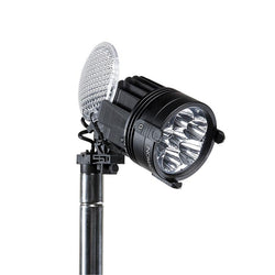 FoxFury Nomad® P56 Production Light - cordless, high quality, durable lighting tool has 95 CRI 5600K daylight balanced lighting. Shown without diffuser lens