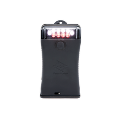 FoxFury Scout Clip Light in Black has White and Red LEDs
