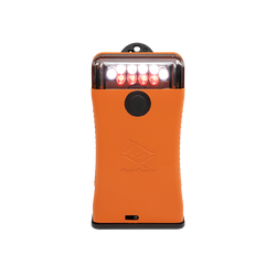 FoxFury Scout Clip Light in Orange has White and Red LEDs