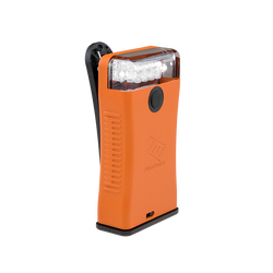 FoxFury Scout Clip Light in Orange has White LEDs