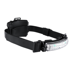 FoxFury Command+ Tilt White & Green LED Headlamp / Helmet Light - Panoramic light bar is 100 lumens, impact and fire resistant.
