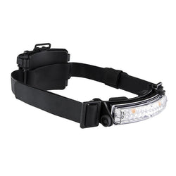 FoxFury Command+ Tilt White & Amber LED Headlamp / Helmet Light - Panoramic light bar is 100 lumens. Impact and fire resistant.