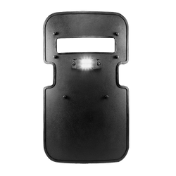 FoxFury Taker B70 Ballistic Shield Light - shown on a ballistic shield
