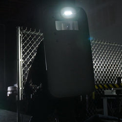 FoxFury Taker B30 Ballistic Shield Light - shown on a ballistic shield