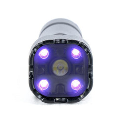 FoxFury Rook 365nm UV NDT Light System- Highly durable flashlight is waterproof, can run on one rechargeable 18650 battery and has an anti-roll head