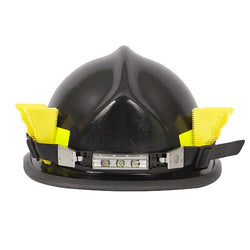 FoxFury Breakthrough® Wedge Yellow, set of 3 - Shown in a fire helmet