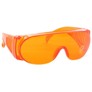 Goggles: Orange - sold by FoxFury. Polycarbonate material goggles have anti-fog air circulation slots