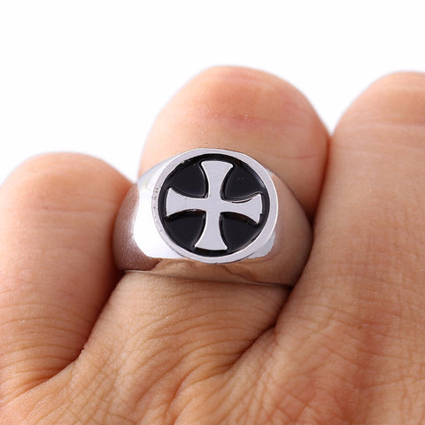 10pcs/lot Assassins Creed Templar Ring the Red  Enamel Rings For Women Men 4 Colors US Size 8 Anillos Men Jewelry Bijoux