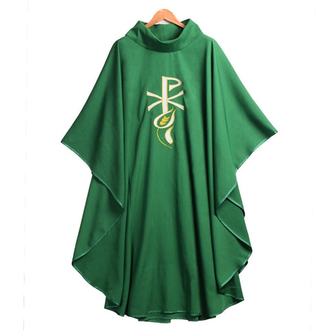 Catholic Church Priest Chasuble Celebrant Vestment w Wheatear PX Embroidery