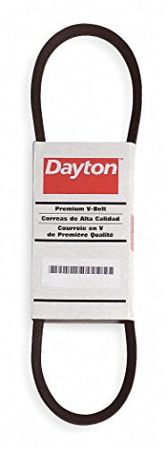 "Dayton 3VX335 Cogged V-Belt, Outside Length 33-1/2"" Fabric Cover, Rubber Body, Polyester Cords 2L382-1 Each"