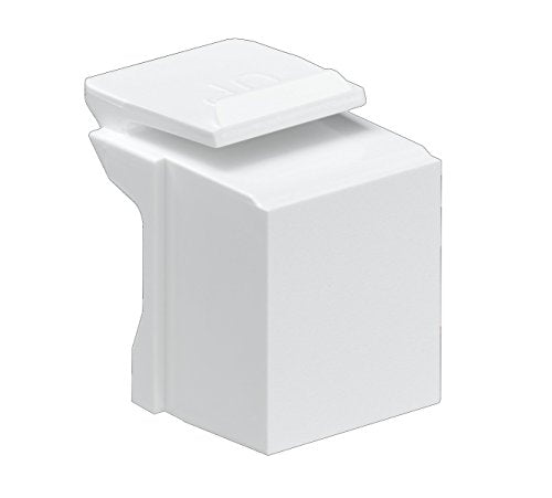 Leviton 41084-BW Blank Quickport Insert, 10-Pack, White