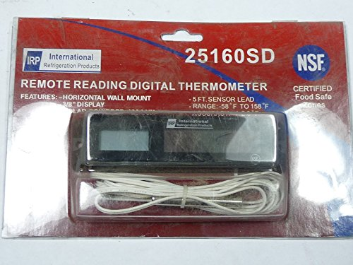 IRP 25160SD Digital Thermometer 3/8 Display -58 - 158F 5ft Sensor Lead