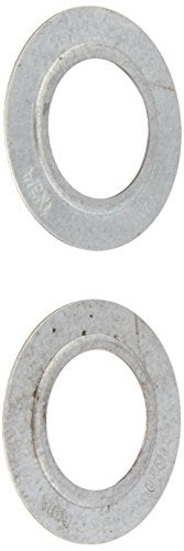 "Halex 96832 RIGID REDUCING WASHER 2/BAG, 1""X3/4"", Silver"
